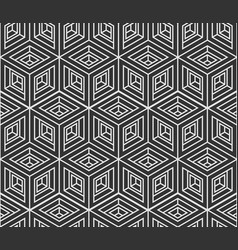 Seamless pattern from isometric cubes vector