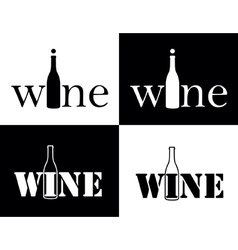 set symbol of wine vector image vector image