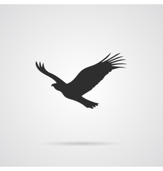 Silhouette of eagle vector