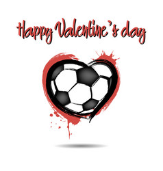 soccer ball shaped as a heart vector image vector image