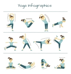 Spine neck and muscle pain exercises yoga vector