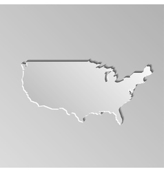 USA map vector image vector image