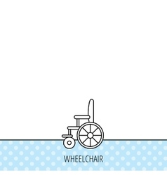 Wheelchair icon Disabled traffic sign vector image