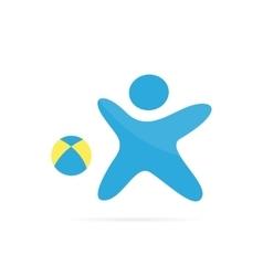 soccer player logo design Vintage soccer vector image