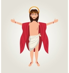 Cartoon jesus christ ascension design vector