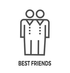 Best friends line icon vector