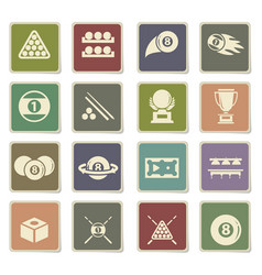 Billiards icon set vector
