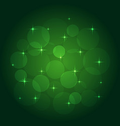 Abstract background with bokeh green vector