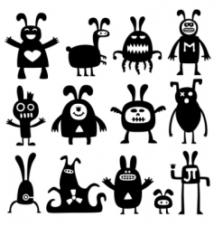 Cartoon rabbits vector