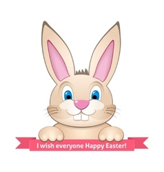 Bunny wishes happy easter vector
