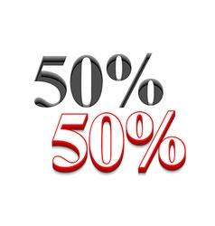 50 discount design vector image