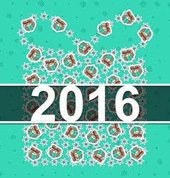 Happy new year 2016 vintage card celebration vector