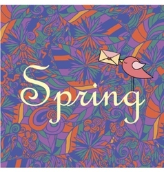 Spring hand lettering vector