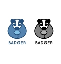 Badger logo isolated on white vector image
