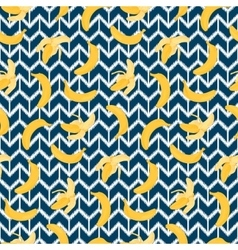 Bananas ethnic seamless pattern vector