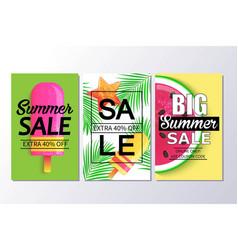 Big summer sale background for banner wallpaper vector