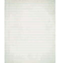 Blank lined paper texture from a notepad vector
