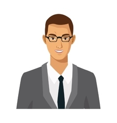Businessman with glasses manager work employee vector