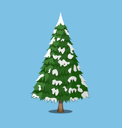 christmas tree cartoon style vector image vector image