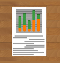 document with layer chart vector image