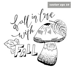 fall in love vector image
