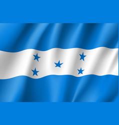 Flag honduras realistic icon vector