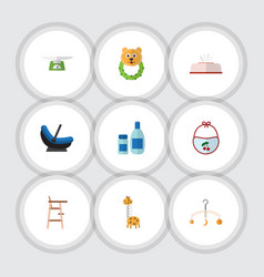 Flat icon kid set of tissue children scales vector