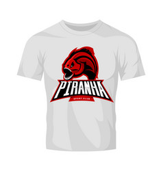 Furious piranha sport logo concept isolated vector