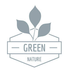 green nature logo simple gray style vector image vector image
