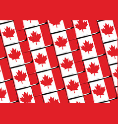 Grunge canada flag or banner vector