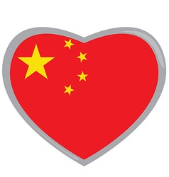 Isolated Chinese flag vector image vector image
