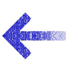 Left arrow grunge textured icon vector