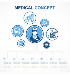 medical nurse concept vector image