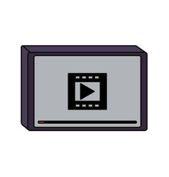 Movie screen with play button vector