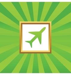 Plane picture icon vector image vector image