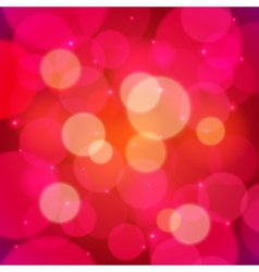 Red bokeh effect abstract background vector