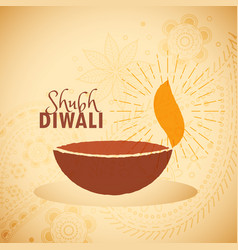 Shubh diwali festival greeting card vector