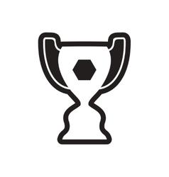 Stylish black and white icon brazilian football vector