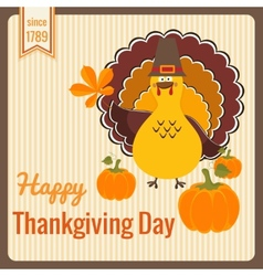 Thanksgiving day vintage card vector