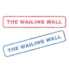 The wailing wall textile stamps vector