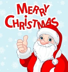 Thumbs Up Santa Claus greeting card vector image