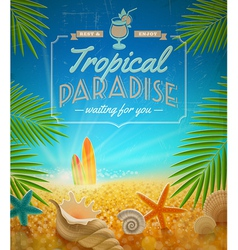 Vacation and summer holidays retro design vector image vector image
