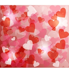 Valentines day love heart shape love bokeh vector