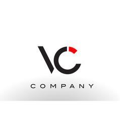 vc logo letter design vector image vector image