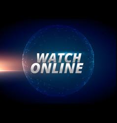 Watch online internet news concept design vector