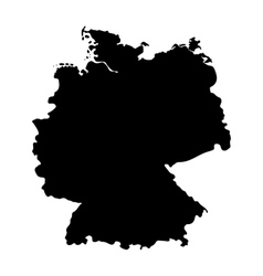 Map of germany isolated on white background vector