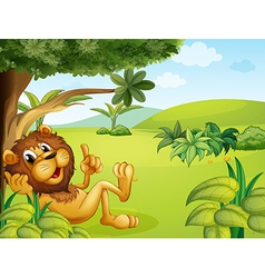 A lion taking a rest vector