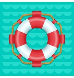 Lifebuoy cartoon style color icon vector image