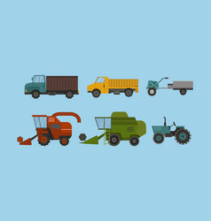 agriculture industrial farm equipment machinery vector image