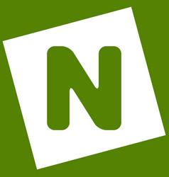 Letter n sign design template element vector